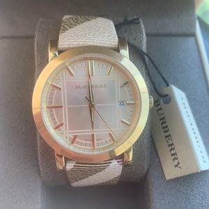 Burberry Women's Luxury Gold Check Watch BU1398